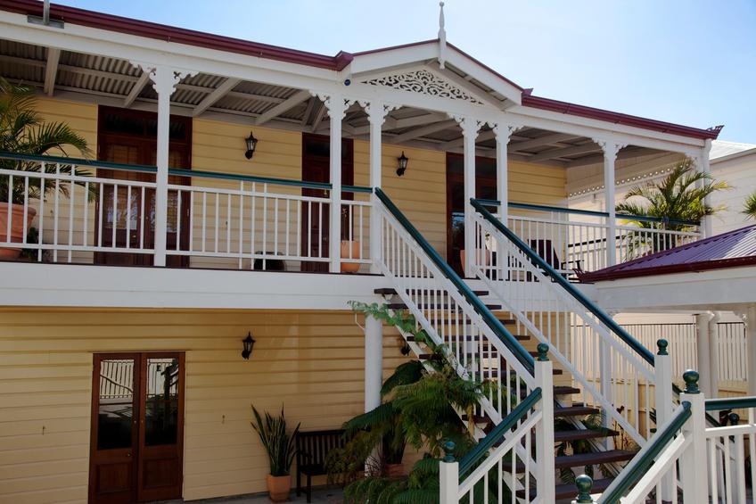 Restored timber Queenslander in Brisbane